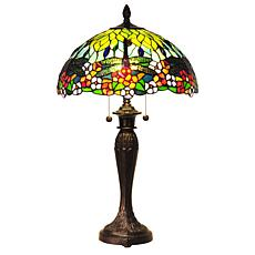 Dale Tiffany Lydia Dragonfly-Design Table Lamp