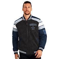 Dallas Cowboys Faux Suede Full-Zip Jacket