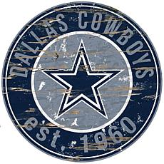 Dallas Cowboys Round Distressed Sign