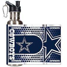 Dallas Cowboys Stainless Steel Water Bottle with Metall