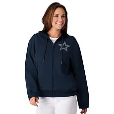 hot sales f0a11 404c7 Dallas Cowboys Women's Full-Zip Hoodie