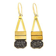 David Aubrey Goldtone Geometric Drop Earrings
