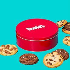 David's Cookies 2 lb. Tin of Jumbo Cookies