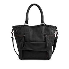 Day & Mood Genuine Leather Hannah Tote - Black