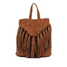 Day & Mood Lee Leather Backpack with Fringe