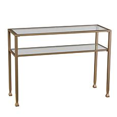 Dayton Metal/Glass Console Table - Matte Gold