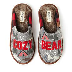 Dearfoams Alpine Print Family Mood Bear Scuff - Cozy