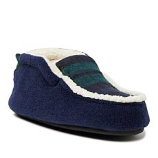 Dearfoams Kids Felted Microwool and Plaid Bootie