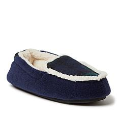 Dearfoams Kids Felted Microwool and Plaid Moccasin