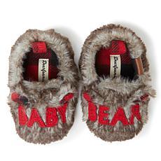 Dearfoams Kid's Furry Baby Bear Closed Back