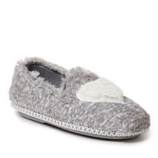 Dearfoams Kids Furry Heart Closed Back