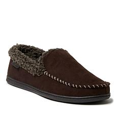 Dearfoams Men's Eli Microsuede Moccasin Slipper