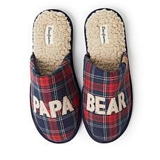 Dearfoams Men's Papa Bear Scuff Slipper