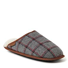 Dearfoams Men's Riley Woven Plaid Scuff