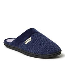 Dearfoams Wide-Width Chenille Clog with Quilted Sock