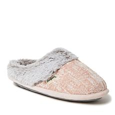 Dearfoams Women's Chenille Knit Clog with Plush Cuff