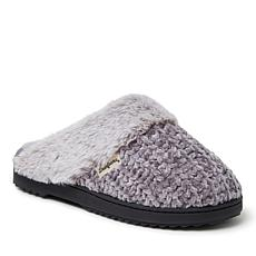 Dearfoams Women's Chenille Knit Scuff Slipper with Fuzzy Cuff