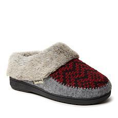 Dearfoams Women's Fairisle Knit and Felted Microwool Clog