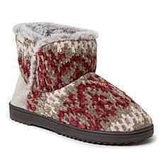 Dearfoams Women's Fairisle or Solid Chenille Knit Boot