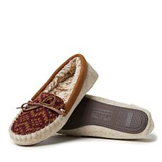 Dearfoams Women's Felted Microwool and Fairisle Knit Moccasin