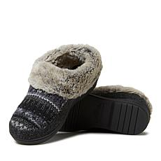 Dearfoams Women's Felted Microwool and Fairisle Sparkle Knit Bootie