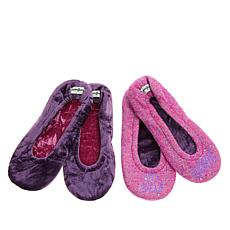 Dearfoams Women's Novelty 2-pack Footies