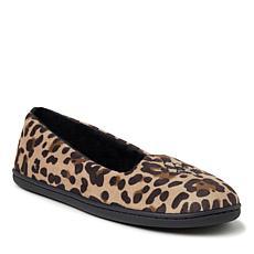 Dearfoams Women's Rebecca Velour Closed-Back Slippers