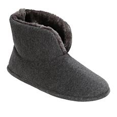 Dearforms Tall Velour Ankle Slipper