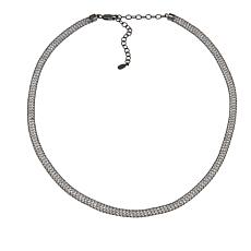 "Deb Guyot Designs Herkimer ""Diamond"" Quartz Mesh 17""  Necklace"