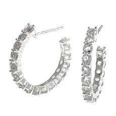 "Deb Guyot Herkimer ""Diamond"" Quartz Hoop Earrings"
