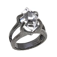 "Deb Guyot Herkimer ""Diamond"" Quartz ""Mini Mambo"" Ring"