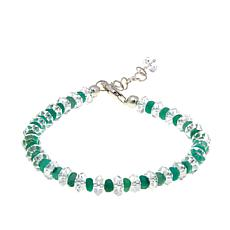 Deb Guyot Herkimer Quartz and Green Beryl Bracelet