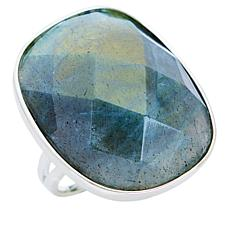 Deb Guyot Studio Sterling Silver Labradorite Faceted Oval Ring
