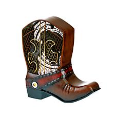 DecoBREEZE 2-Speed Cowboy Boot Figurine Fan