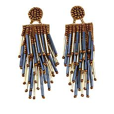 deepa by Deepa Gurnani® Tube Bead Fringe Earrings