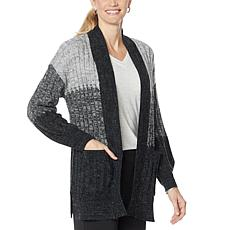 Democracy Cozy Heathered Sweater Knit Cardigan