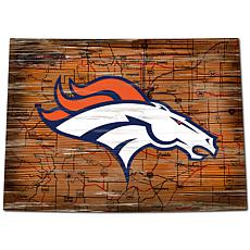 Denver Broncos Distressed State with Logo