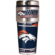 Denver Broncos Travel Tumbler w/ Metallic Graphics and Team Logo