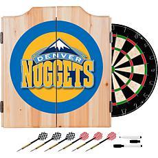 Denver Nuggets NBA Wood Dart Cabinet Set