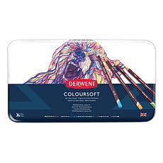 DERWENT Coloursoft 36-piece Colored Pencil Set