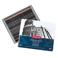 DERWENT Graphic Graphite 24-piece Pencil Set