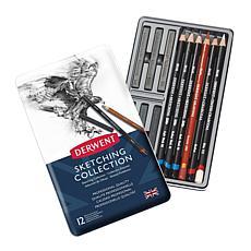 DERWENT Graphic Sketching 12-piece Pencil Set