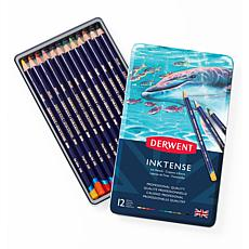 DERWENT Inktense 12-piece Colored Pencil Set