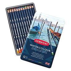 DERWENT Set of 12 Watercolor Pencils in Tin