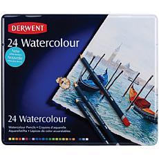Derwent Watercolor Pencil Tin - 24-Piece Set