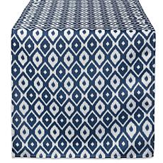 "Design Imports 14"" x 108"" IKAT Outdoor Table Runner"