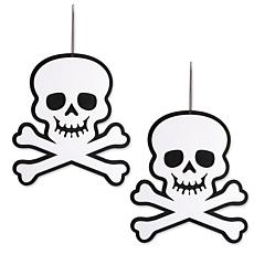 Design Imports 2-piece Hanging Foam Skull & Crossbones Set