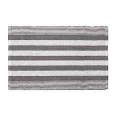 Design Imports 2' x 3' Reversible Cabana Stripe Recycled Yarn Rug