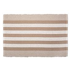 Design Imports 2' x 3' Reversible Cabana Stripe Recycled Yarn Rug