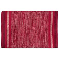 Design Imports 2' x 3' Reversible Variegated Recycled Yarn Rug